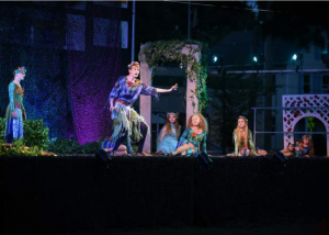 "Cast members of ""A Midsummer Night's Dream"" in Branford, CT"