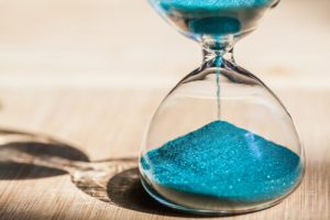 Blue sand timer